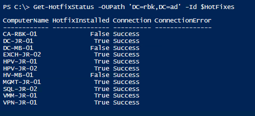 Using PowerShell to test whether hotfixes is installed | Jan