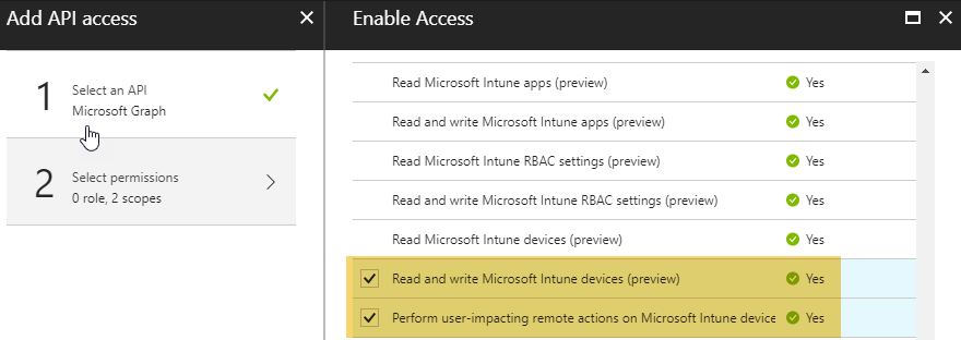 Unattended authentication against the Microsoft Graph API from
